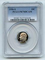 1996 S 10C Clad Roosevelt Dime Proof PCGS PR70 PR70DCAM