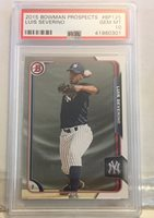 2015 Bowman Prospects Luis Severino Psa 10 Gem Mint Yankees Star