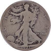 1921 50C Walking Liberty Half Dollar PCGS G4