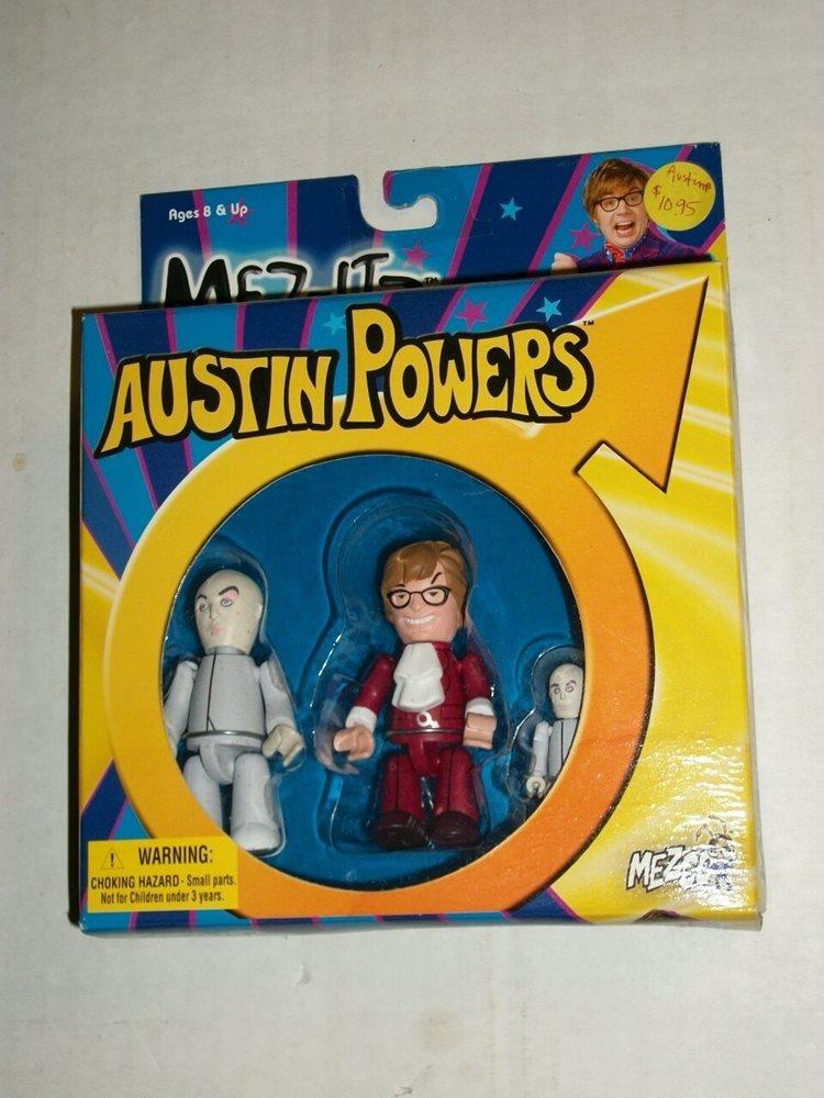 Mezco Mez Itz Austin Powers Dr Evil Mini Me Set Misb