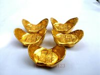 Collection China Old Qing Emperor Year Brass Ingot Not Gold Gift random Delivery