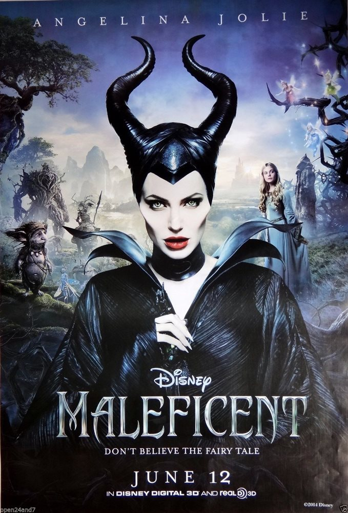 Angelina Jolie Maleficent Movie Poster From Asia Angelina Wearing Horns