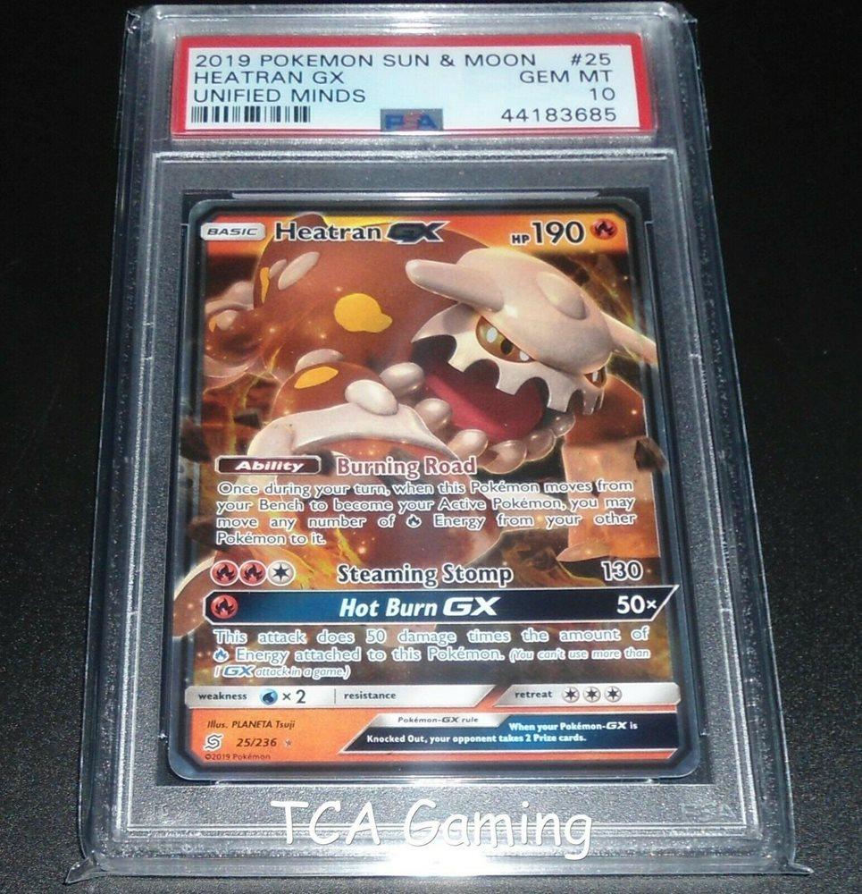Pokemon Unified Minds Heatran GX 25//236 Mint
