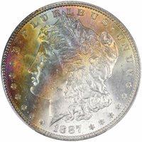 1887 $1 Morgan Dollar PCGS MS65