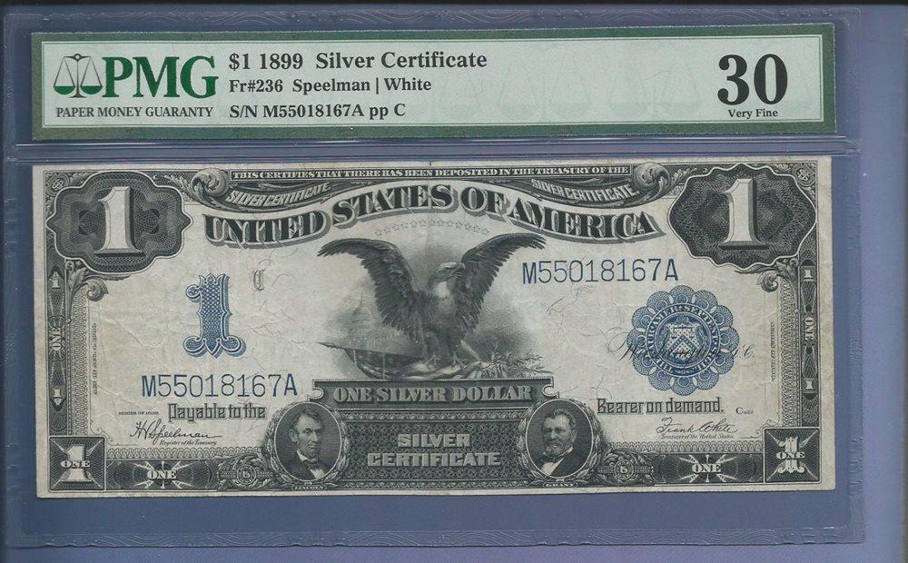CC&C $1 1899 Silver Certificate Note BLACK EAGLE - VF 3