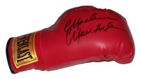 An Everlast boxing glove signed by Marvin Hagler. Comes with a Certificate of Authenticity.
