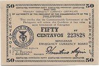 Philippines emergency Money 50 Centavos 1943 S#494 Rare