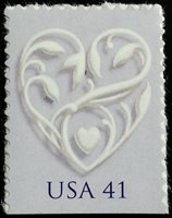2007 41c Love Special Issue, Silver Heart Scott 4151 Mint F/VF NH