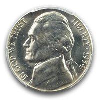 1954-S/D 5C Jefferson Nickel PCGS MS66