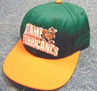 VINTAGE UNWORN 90 S THE GAME NCAA MIAMI HURRICANES SNAPBACK HAT 5a91880d9e26
