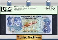 2 Piso 1978 Cs1 Philippines J Rizal Specimen Pcgs 66 Ppq Gem New