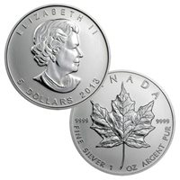 2013 Canadian Maple Leaf - 1 Troy Ounce .9999 Silver BU
