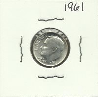 1961 US SILVER 10 Cent Coin Dime