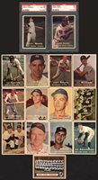 Lot # 123: 1957 Topps Baseball Near-Complete Set with PSA 6 Mantle (372/407)