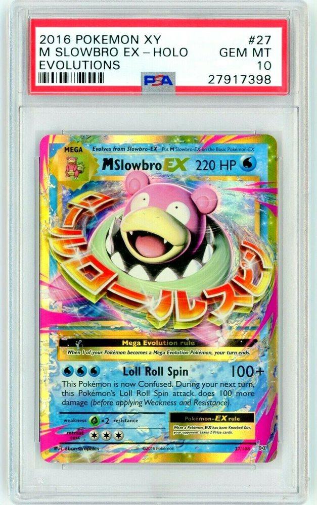 Mega Slowbro EX 27//108 XY Evolutions Holo Rare Pokemon Card NM//M