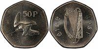 IRELAND REP. 1981 Cu-Ni 50 Pence PCGS SP63 Exceedingly rare as a Specimen strike