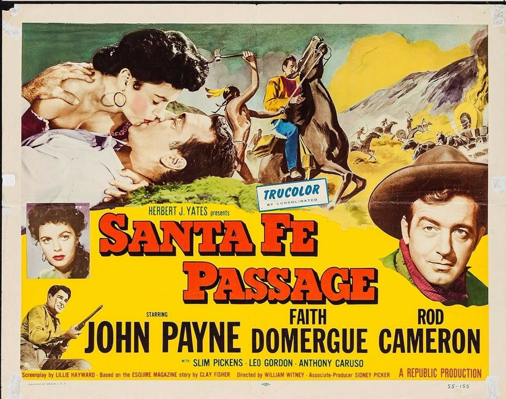 SANTA FE PASSAGE 1955 Original Movie Poster Western 1/2