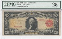 $20 Gold Certificate, 1905, FR1180 Lyons-Treat, PMG Very Fine 25 *TECHNICOLOR*
