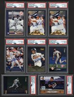 Lot # 184: 1996-97 Derek Jeter PSA Authenticated Signed Cards with Early Signatures (8)