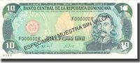 10 Pesos Oro Dominican Republic Banknote, 1997, Specimen, Km:153s