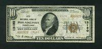 Fr No.1801-2 $10 Pennsylvania 1929II 13180 Philadelphia Abt. VF