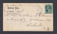 USA circa 1885 EXCHANGE HOTEL DPO COVER SUSPLENSION BRIDGE TO ROCHESTER NEW YORK