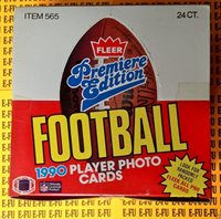 1990 FLEER UNOPENED 24 RACK PACK LOT  FOOTBALL CARDS ALL PRO INSERTS 1080 CARDS