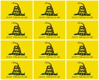 3x5 Inch Sticker GADSDEN DONT TREAD ON ME Flag Decal Yellow, 12 Pack