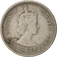 East Caribbean States,Elizabeth II,10 Cents,1965,EF(40-45),Copper-nickelKM 5