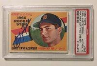 Carl Yastrzemski Signed Autograph 1960 Topps Baseball Card Psadna 148 Red Sox
