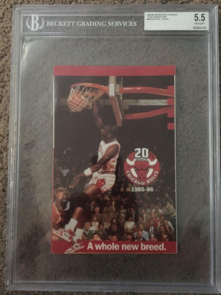 1985 Chicago Bulls Season Ticket Order Form Michael Jor