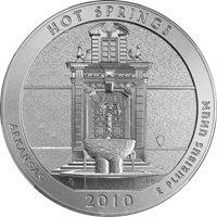 2010-P NGC SP-70 America the Beautiful 5 oz Silver Specimen – Hot Springs w/Box