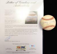 "RARE Inscribed Mickey Mantle Signed ""No. 7"" OAL Baseball PSA/DNA Grade 9 (Autograph Grade 9, Baseball Grade 9) w. UDA Cert & Box"