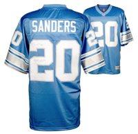 Barry Sanders Detroit Lions Autographed Pro Line Blue Jersey With 1997 MVP Inscription