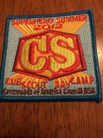 2012 Crossroads of America Council Superhero Summer Cub cout Day Camp patch