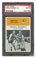 1961 FLEER #60 FRANK RAMSEY 'IN ACTION' - PSA MINT 9