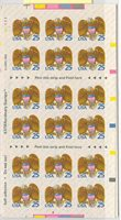 US 2431a BC52 25c eagle book of 18 MNH P#A1111