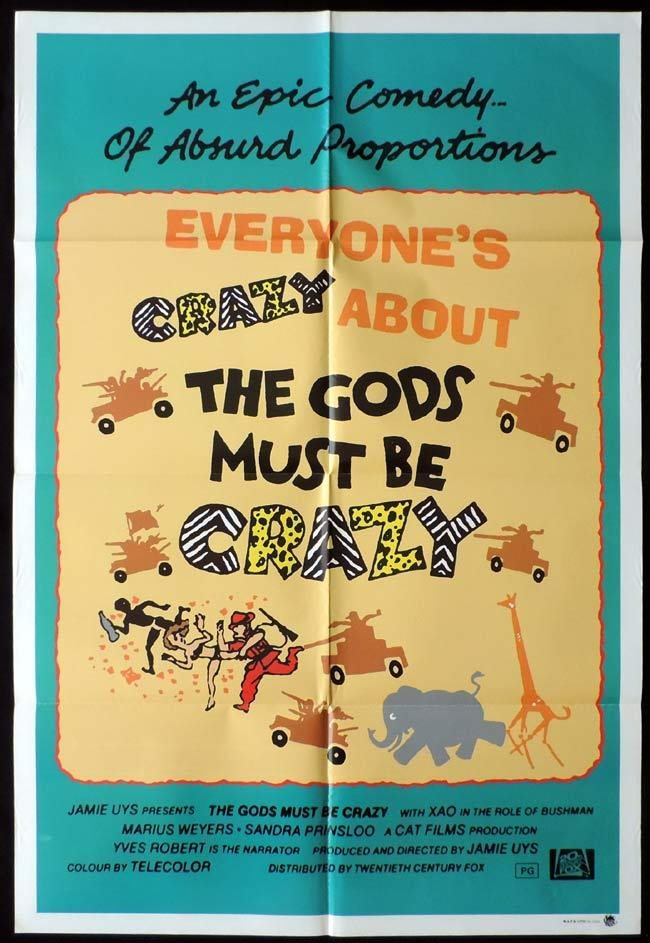 THE GODS MUST BE CRAZY Original ONE SHEET Movie poster. Click To Enlarge 67b0cf92a