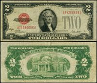 FR. 1502 $2 1928-A Legal Tender A-A Block Fine+