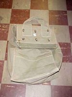 US Army WWII Ballot Box, canvas w/ chain lock as New