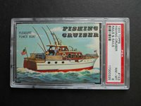 1955 Topps Rails & Sails, Fishing Cruiser, Card# 153, PSA-8