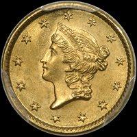 G$1 1853 PCGS MS65