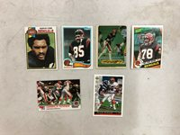Lot of 6 Assorted NFL Football Cincinnati Bengals Cards Various Years & Players