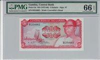 5 Dalasis Gambia P 5d Nd1972-86 Pmg 66 Epq