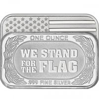 1 oz We Stand for the Flag Silver Bar