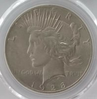 1928 Peace Dollar PCGS ALMOST UNCIRCULATED DETAIL - NICE COIN! LOOKS MS-62