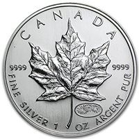 Canadian Silver Maple Leaf Coin 1 oz One Troy oz .9999Pure 2013 Snake Privy