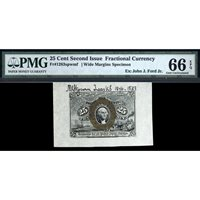 FR. 1283SP Second Issue 25C Face Specimen Fractional Currency PMG 66 EPQ