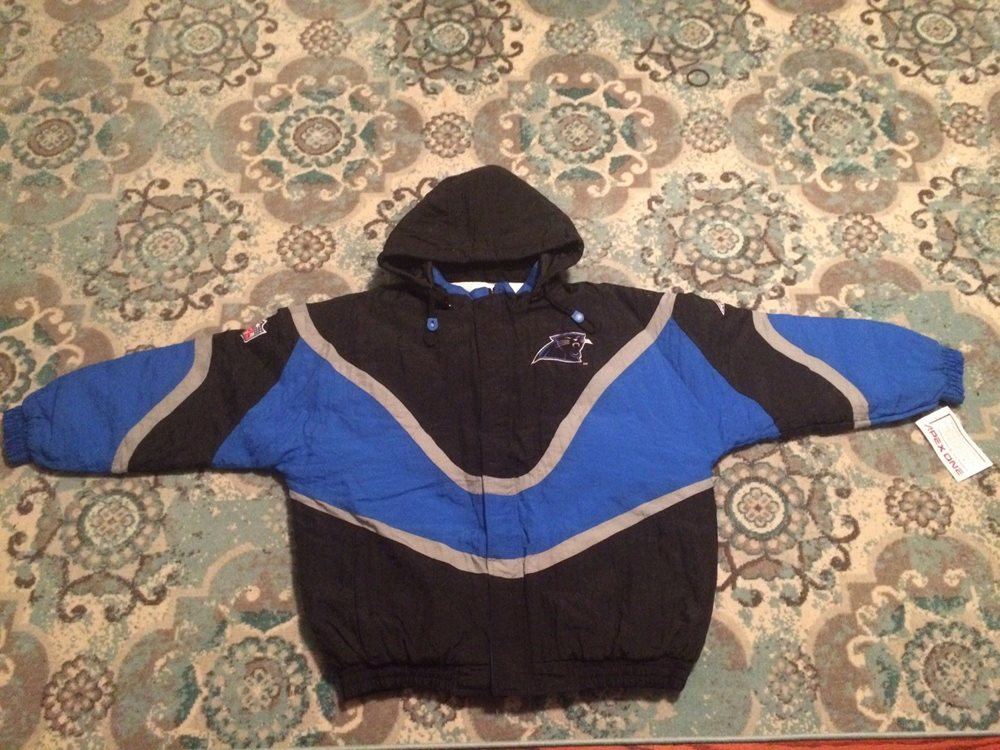 sneakers for cheap f7a42 0897d NEW Carolina Panthers NFL Vintage 90s Starter Jacket Apex One Coat XL  Winter NWT