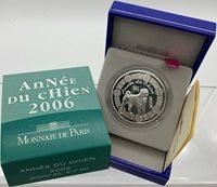1/4 Euro 2006 Frankreich France Year of the Dog 0,25 Euro Silver